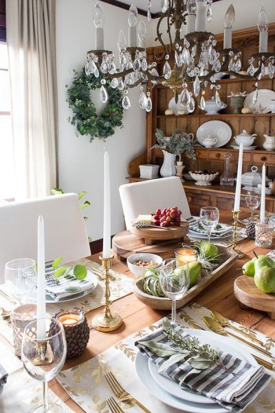 Gorgeous tablescape with finds from Target, Ikea and the thriftstore I Finding Silver Pennies