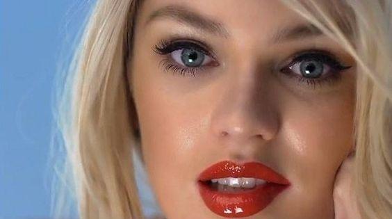 Victoria's Secret Holiday Makeup. Candice Swanepoel