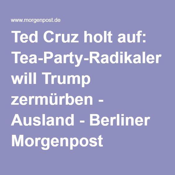 Ted Cruz holt auf: Tea-Party-Radikaler will Trump zermürben - Ausland - Berliner Morgenpost