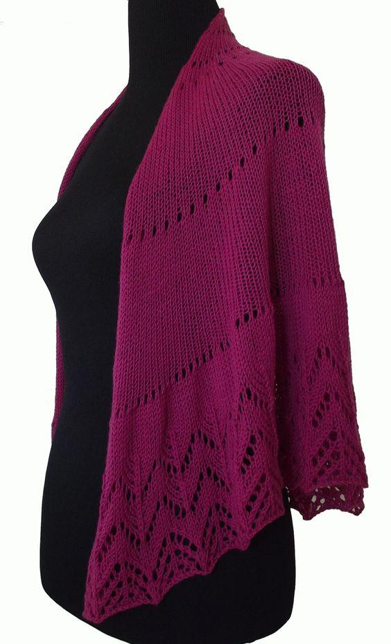 Lace Knitting Pattern Library : Lace, Knitting stitches and Shawl on Pinterest