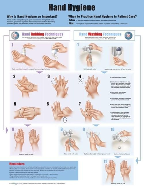 Hand Washing Hygiene Instruction Poster Hand Hygiene Hand