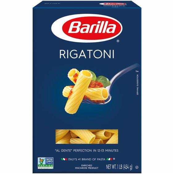 Pick N Save Barilla Rigatoni Pasta 1 Lb Rigatoni Rigatoni Pasta Barilla Pasta