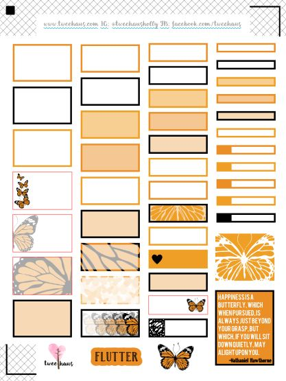 FREE Printable Hourly Erin Condren stickers to match March colors ...
