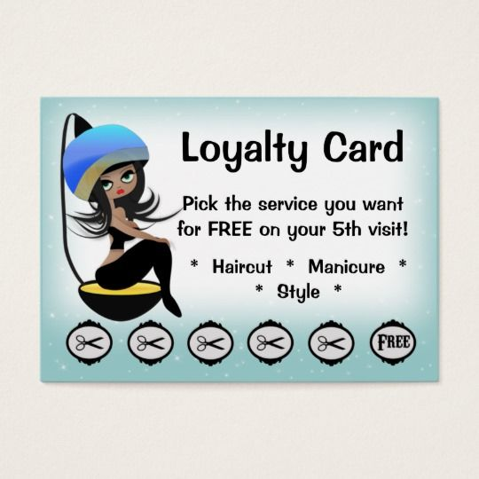 Beauty Salon Loyalty Hairstylist Punch Cards Hairstylist Business Cards Punch Cards Salons