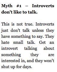 introverts & talking