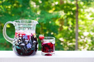 Triple Berry Sangria - the pitcher is for me, the glass is for you. ;) I share.
