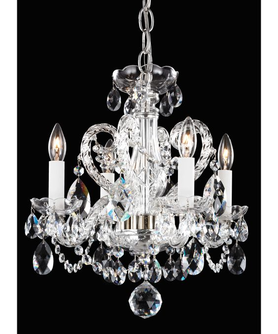 Thinking about two of these for my mother's apartment. Schonbek NV3904 mini chandeliers.