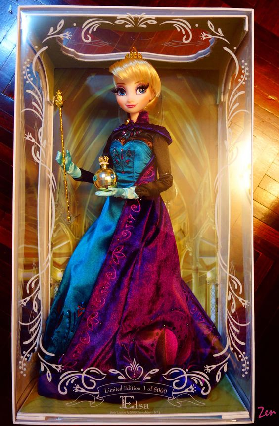 "17"" Frozen Queen Elsa Coronation Day Disney Store Limited Edition"