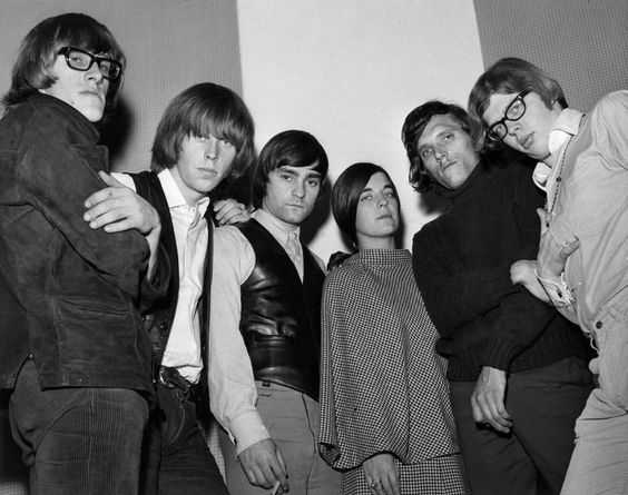 Jefferson Airplane 1965/early 1966 - Paul Kantner, Skip Spence, Marty Balin, Signe Toly Anderson, Jorma Kaukonen and Jack Casady