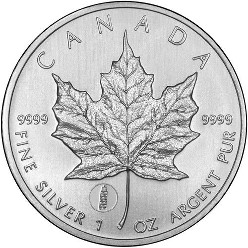 2012 Canada Silver 5 Five Dollars Maple Leaf Leaning Tower Of Pisa Privy Mark One Ounce Bu Reverse Th In 2020 Gold And Silver Coins Silver Maple Leaf Silver Coins