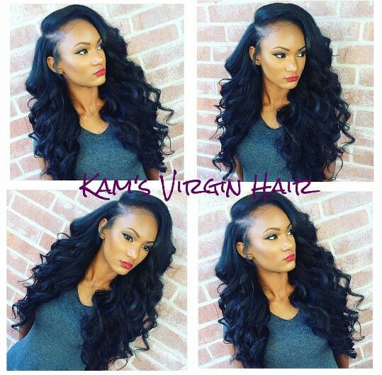 Deep Side Part Sew In Hairstyles Pinterest Sew