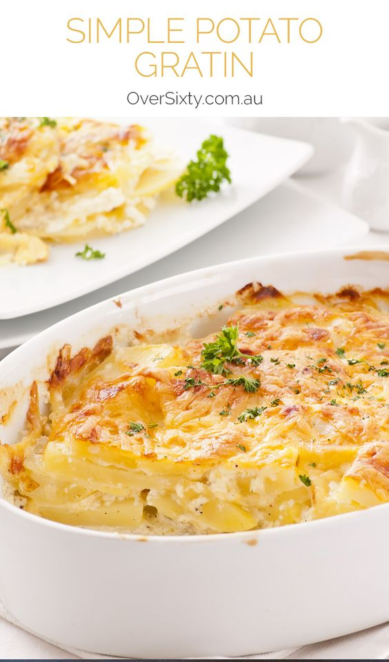 Simple Potato Gratin - This cheesy potato side dish is the perfect ...