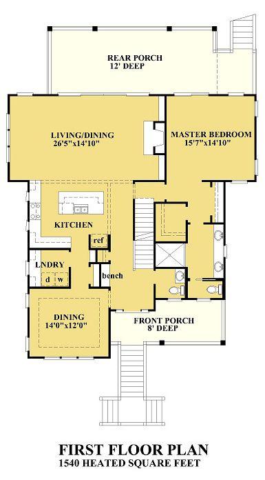 Coastal Home Plans - Gray Bay Cottage