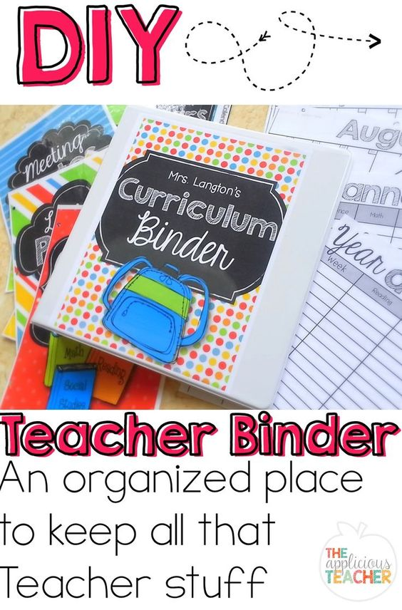 A one stop place for all that teacher stuff! Calendars, meeting notes, important student info, this teacher binder will hold it all! Great step by step post showing you how to make your own and what to put in it!