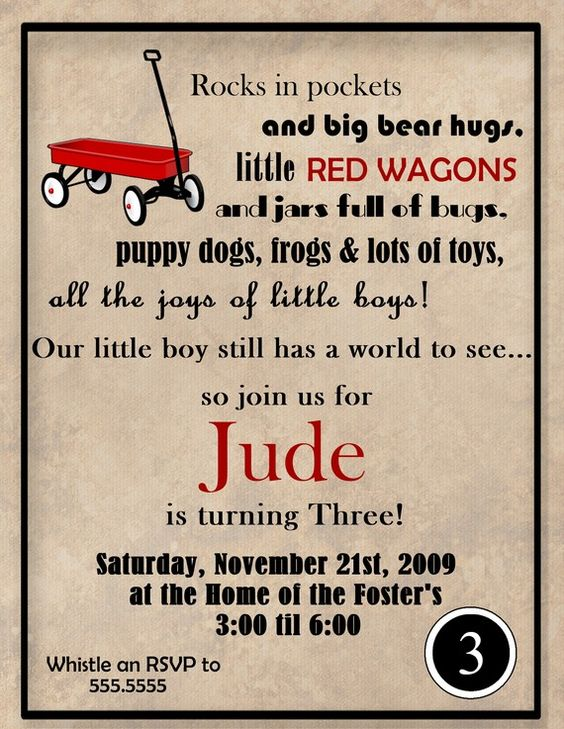 Pinterest The worlds catalog of ideas – Red Wagon Birthday Invitations