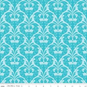Sandra Workman Designs - Dream and a Wish - Damask in Blue