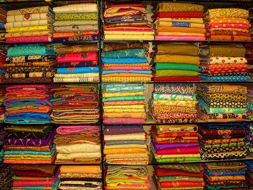 Saree shop, India
