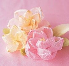 Crepe Paper Flowers :)    Go here for the how-to: http://www.marthastewartweddings.com/226603/shaped-crepe-flowers?center=0=274777=237525: Paper Craft, Papercraft, Paper Flower, Diy Craft, Bubble Flower, Tissue Flower