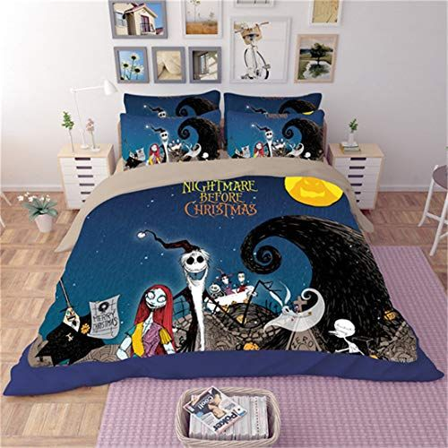 Christmas Bedding Set Duvet Covers Pillowcase Halloween Bed Sets King Queen Full Twin Size 3d Cartoon Shee Christmas Bedding Set Bedding Sets Christmas Bedding