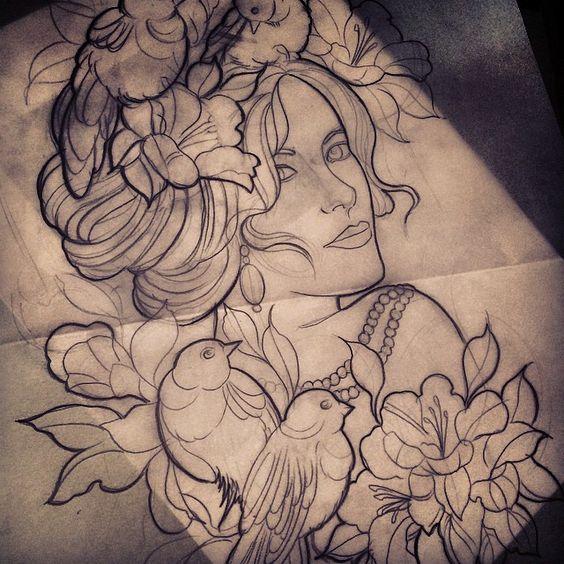 Done by Monique Peres, tattooist at Lady Ink Tattoo Studio (São Carlos), Brazil TattooStage.com - Rate & review your tattoo artist. #tattoo #tattoos #ink