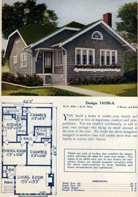 62 Beautiful Vintage Home Designs Floor Plans From The 1920s Home Design Floor Plans Cottage House Designs Vintage House Plans