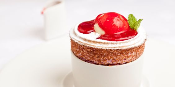 George Blogg's spectacular raspberry soufflé recipe is served with a creamy buttermilk ice cream and punchy raspberry and mint…