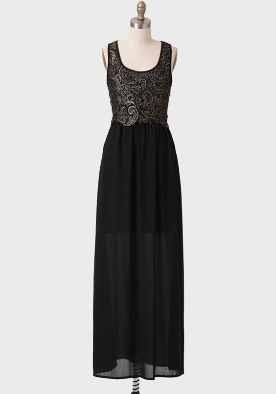 Starlight Lace Detail Maxi Dress at #Ruche @Ruche