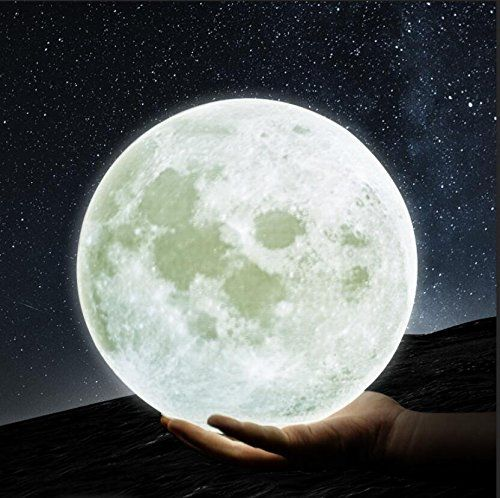 Gpjoy Moon Lamp 3d Printing Moon Night Light Rechargeable Https Www Amazon Com Dp B074lsffth Ref Cm Sw R P Baby Night Light Light Decorations Wooden Stand