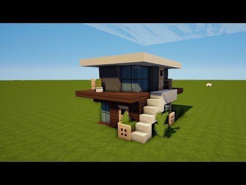 Kleines Und Einfaches Modernes Haus In Minecraft Leichtes