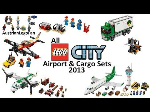 All Lego City Airport Cargo Sets 2013 Lego Speed Build Review Youtube Lego City Airport All Lego Lego City