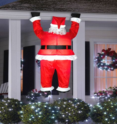 Winter lane airblown hanging 6ft santa yard decoration for Airblown christmas decoration