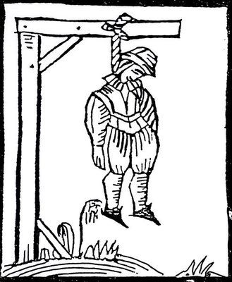 Image result for hanged man woodcut