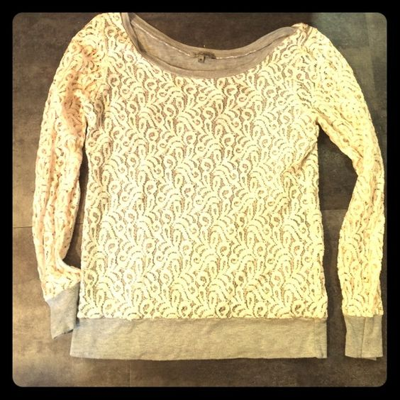 IVORY LACE BLOUSE IVORY LACE BLOUSE, gently worn Tops Blouses
