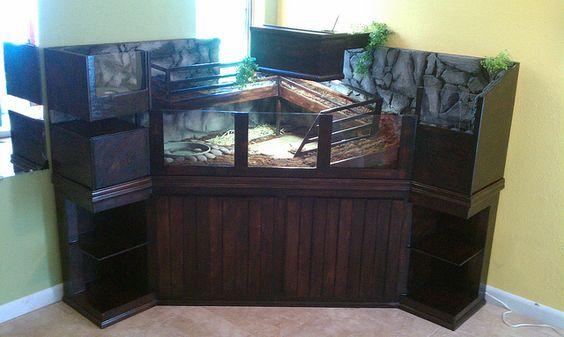 Tortoise Table Indoor Enclosure Pine Plywood Corner Unit