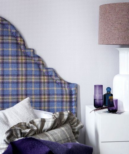 plaid headboard: