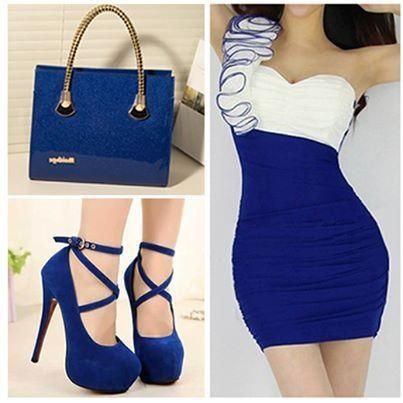 Hermoso azul y blanco