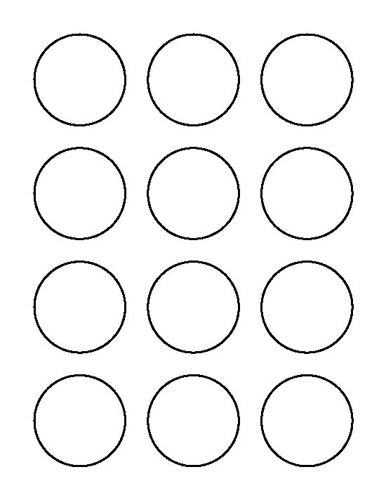 2 inch circle pattern. Use the printable outline for crafts ...