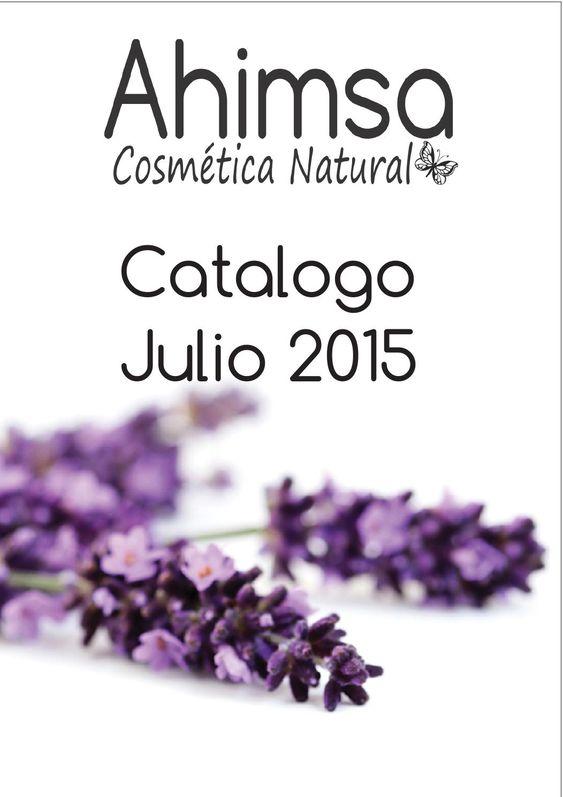 Catalogo Ahimsa, cosmetica natural. Julio 2015