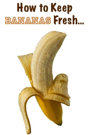 Kitchen Tip: How to Keep Bananas Fresh…