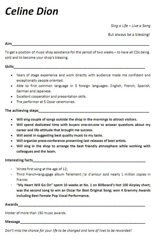 music resume examples  contact your favorite musicians   at    music resume examples  contact your favorite musicians   at staraddresses com