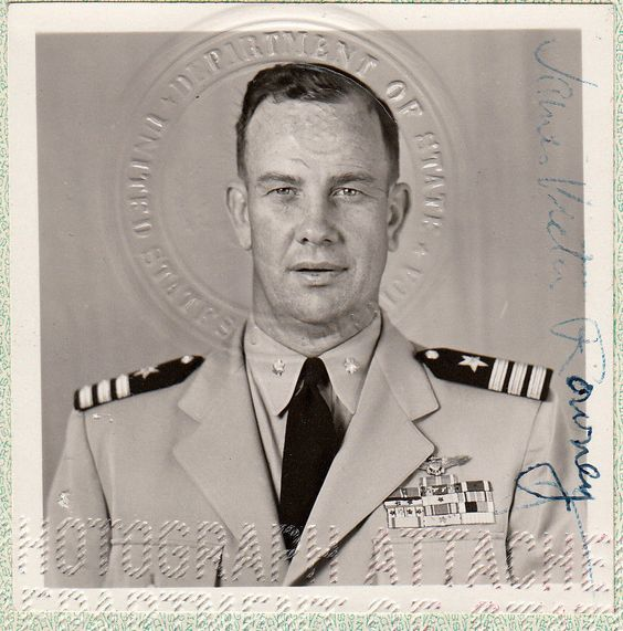 US Special Passport Navy Commander, WWII (Pearl Harbor & Midway) and Korea