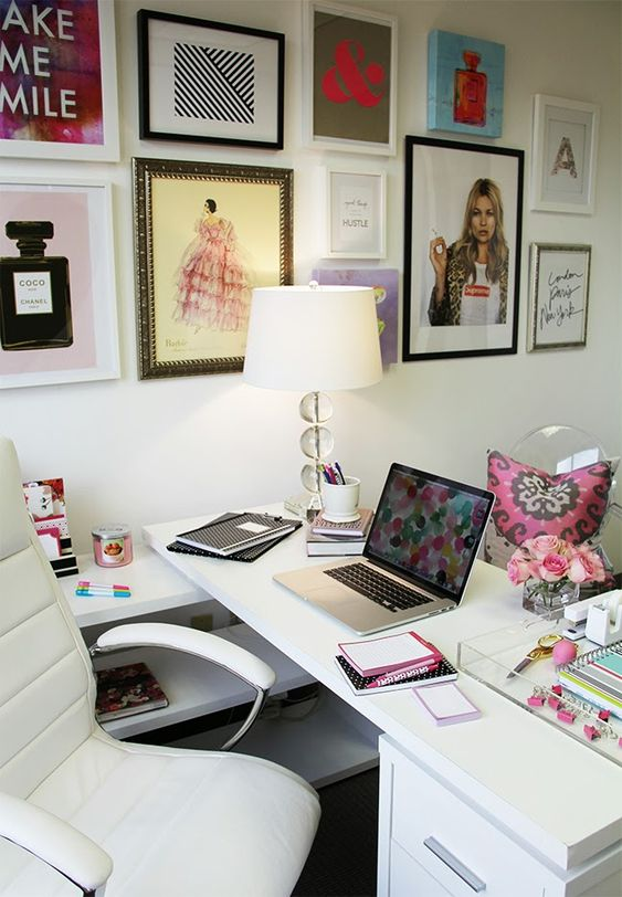 Groovy Happy Chic Workspace Home Office Details Ideas For Largest Home Design Picture Inspirations Pitcheantrous