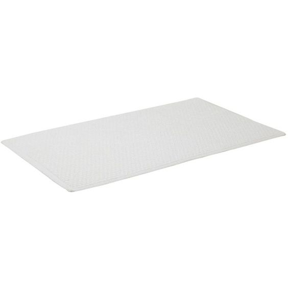 Linea Cotton Bobble reversible bath mat in white ($27) ❤ liked on Polyvore