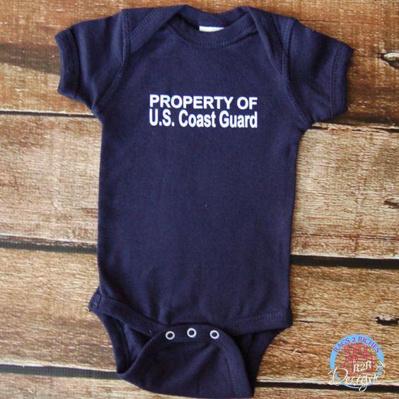 Property US Coast Guard Baby Bodysuit  New Born by R2RDesigns, $13.00