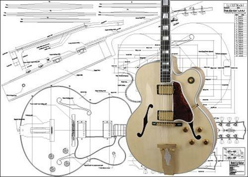 Gibson L5 Ces Jazz Guitar Plan Musical Instruments Guitars