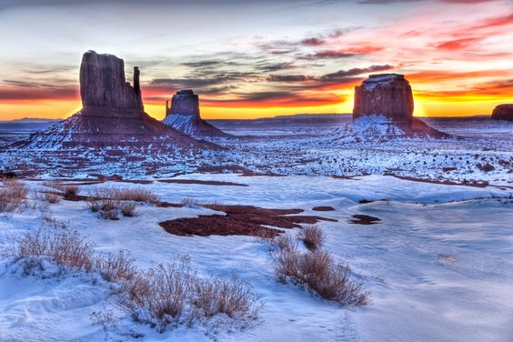 Monument Valley Buttes at sunrise