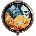Vampire Skull & Woman Pulp Pin Up Art Pill Box Case