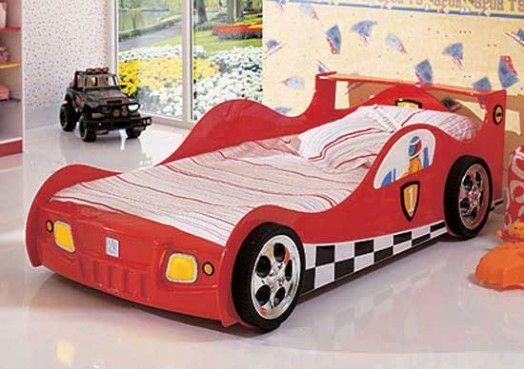 Kinderzimmer gestalten – 20 Kinderbetten für coole Jungs wie Autos geformt - kinderzimmer gestalten junge bett auto formel 1 kidsroom car bed