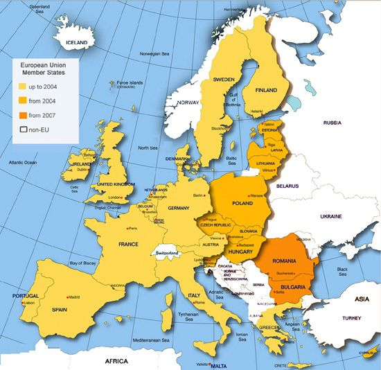 map of uk and europe Systems of early educationcare – Europe and Uk Map
