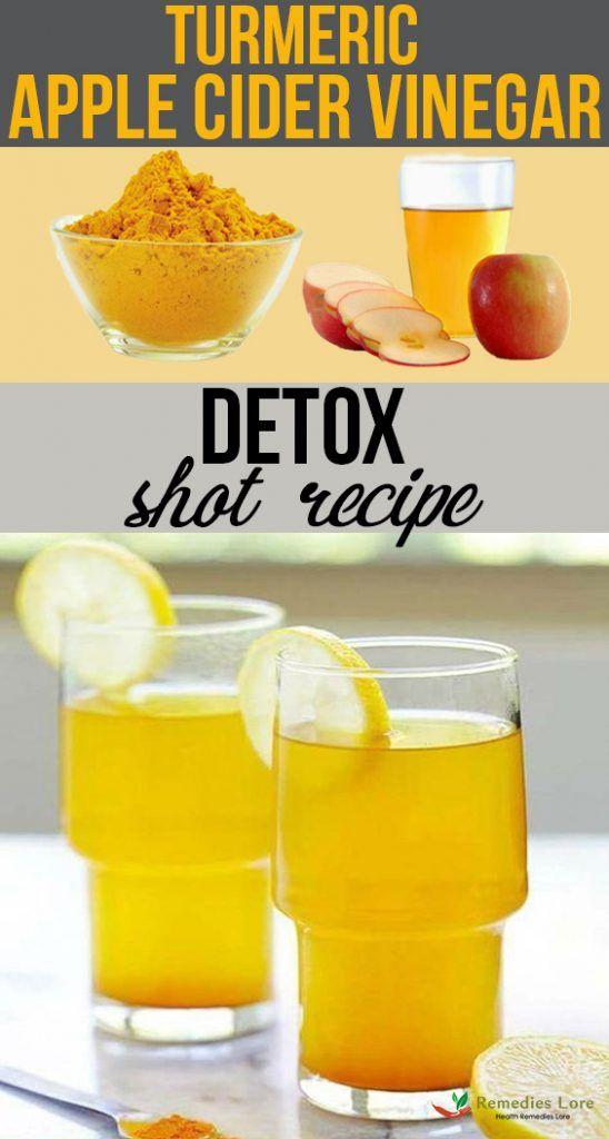 Turmeric Apple Cider Vinegar Detox Shot Recipe Apple Cider